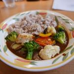 アラディン - 十五穀米の野菜カレー(880円)