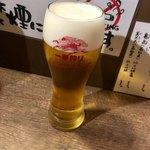 海鮮立呑 牡蠣スタンド - 一番搾りからのスタート(´・ω・`)