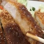 かつのみせ 菱の家 - でも豚肉自体が美味しい肉を使っておられますね!(2018.7.8)