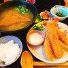 大和本陣 - 料理写真:海老フライ定食♡ (期間限定のあんかけうどんの細うどんに変更)
