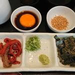 近江牛一筋 農家レストラン だいきち - 薬味と出汁