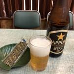 常盤 - 瓶ビール中500円つまみは味付け海苔