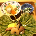 和食 飛石 - 料理写真:4200円コースの前菜