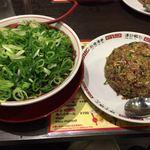 新福菜館 - 中華そば(並)、焼きメシ(並)セット 1100円♪