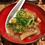 けとばし屋チャンピオン - ●付き出し 馬肉のあんかけ豆腐