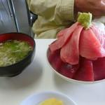 鶴亀屋食堂 - 高級インドマグロ丼小