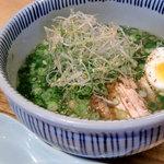とりそば太田 - 塩ねぎそば(半麺)