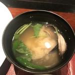 ステーキハウスハマ - あさりの味噌汁