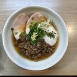 麺処 鶏谷 - 冷やし肉吸い鶏そば 850円