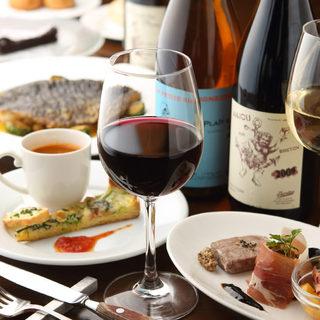 世界各国の旬のワインがリーズナブルな価格で味わえます