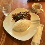 巧匠 - 炒猪肝飯(レバニラご飯)500円