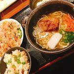 まーちゃん食堂 - 料理写真:ゴーャチンプル定食