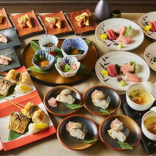 旬の味覚が楽しめる宴会プランは4000円からご用意。