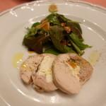 ピッツェリア・サバティーニ - 若鶏もも肉とクリームチーズのガランティーヌ
