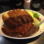 えびす大黒 - ミンチカツのデミタマライス500円