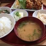 森町食堂 - 唐揚げ定食