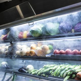 季節野菜をふんだんに取り揃えております!