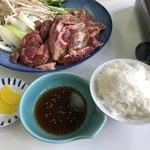 豊富温泉 ふれあいセンター レストラン - ジンギスカンライス付き1.100円