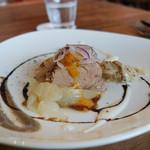野菜レストランさいとう - 新玉ねぎに低音調理の豚ヒレ肉