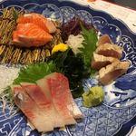 北海道食市場丸海屋 - コースの刺し盛り