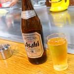 広島流お好み焼 つかさ - 2018年3月 ビール(中瓶)【550円】