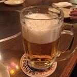 ニューミュンヘン - 生ビール(乾杯後)