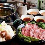 近江やWabisuke - しゃぶしゃぶはお野菜とのセットです。