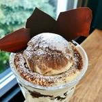 CAFÉ de ROMAN - ティラミスパフェ@マスカルポーネたっぷり。ほんのりブランデーの風味で大人味