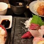 お魚のお店 福玄丸 - 刺身定食。