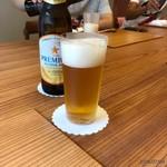 柚木元 - ノンアルビールで乾杯
