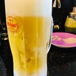 琉球回転寿司 海來 - オリオン生ビール550円