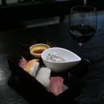 夢酒粋亭 - お寿司と赤ワイン