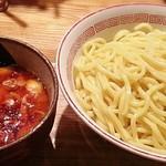つけ麺屋 やすべえ - 【辛味つけ麺 + 辛味スペシャルMAX + つぶし生にんにくW + 味玉】¥780 + ¥30 + ¥0 + ¥100