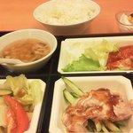 四川料理 長楽 - エビチリ定食 ¥980(税抜き)