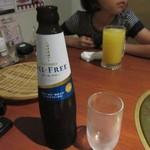 龍王館 - この日は車で訪問したのでアルコールは無し、ノンアルコールビールで大人は乾杯です。