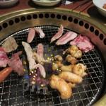 龍王館 - ロースターは無煙ロースターなんで嫌な焼き肉の煙も気にせず食事が楽しめました。