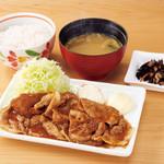 デニーズ - 生姜焼き定食¥862