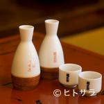 いせ源 - あんこうの味を引き立てる、辛口の日本酒『菊正宗』 (一合)