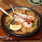 spanish kitchen perca(スパニッシュキッチン ペルカ) - 高級海老スキャンピのパエリア(S)