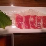 和酒と旬菜なごみ料理 日月 - 熊本産極上馬刺し