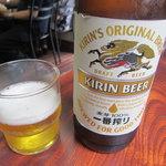 中華料理タカノ - ビールは一番搾りの大瓶が400円だし!