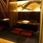 神山 - 地下の小上がり席