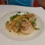 ビストロ ダイア - 甘鯛の鱗焼きと帆立貝のポワレマリニエールソース