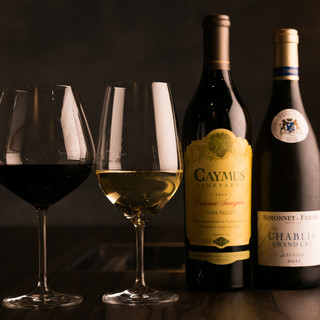 肉料理と相性の良いワインが種類豊富な品揃え