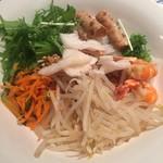 ベトナム料理 インドシナ - 汁無し麺1:混ぜる前
