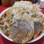 ラーメン風林火山 - 青唐味噌普通850円ヤサイマシアブラ+豚1枚100円