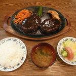 支倉 - Wハンバーグ定食(1,800円)