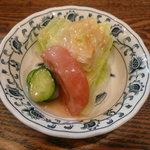 支倉 - Wハンバーグ定食(1,800円)~サラダ