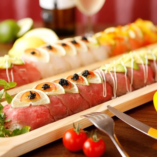 【LINENEWS】驚愕60cmイタリアン肉ロング寿司