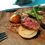 合掌レストラン 大蔵 - 黒毛和牛サーロイン端肉